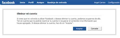 Como darse de baja total o salirse  definitivamente de Facebook (tutorial) 1