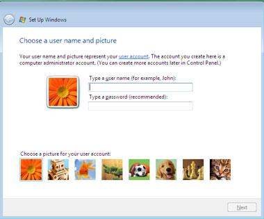 Truco Instalar Windows Vista creación usuario