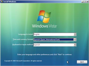 Truco Instalar Windows Vista Idioma