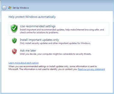 Truco Instalar Windows Vista Protección