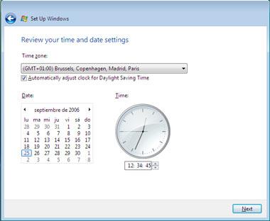 Truco Instalar Windows Vista Zona Horaria