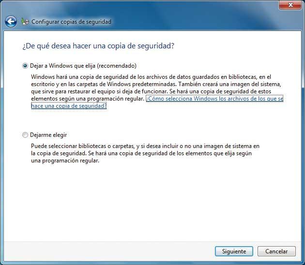 Cómo hacer Copias de seguridad en Windows 7, Paso a Paso 3