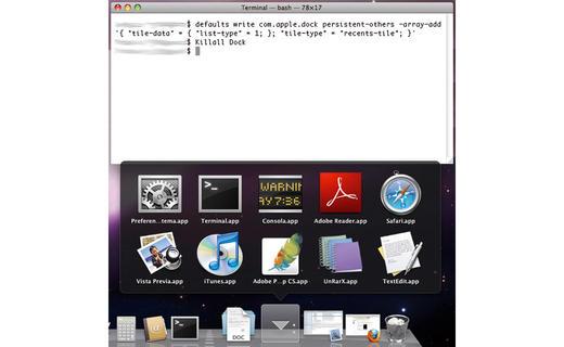 Agrupa las últimas diez aplicaciones que has abierto en tu Mac 0
