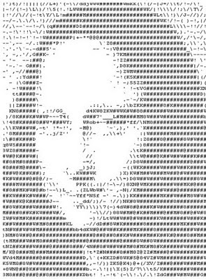 Mapa de caracteres y tabla ASCII 0