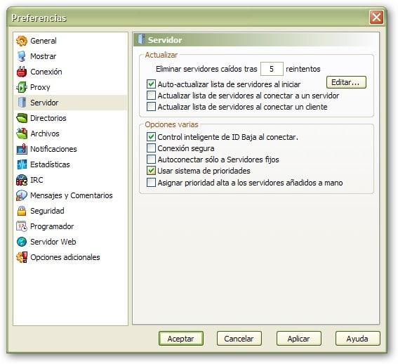 Actualizar servidores Emule (server.met) 0