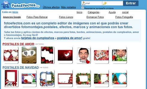 Efectos para tus fotos¡ postales de Amor, Navidad,Etc. y marcos todos gratuitos 1