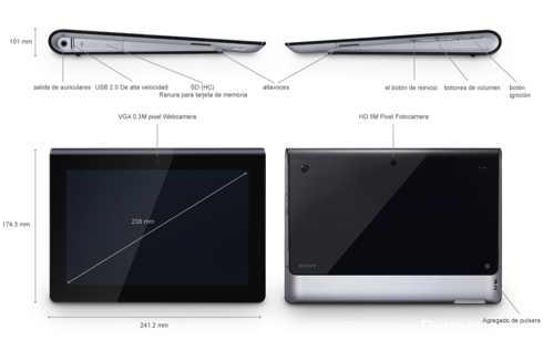 Análisis y características de la nueva tableta de Sony Tablet S 2