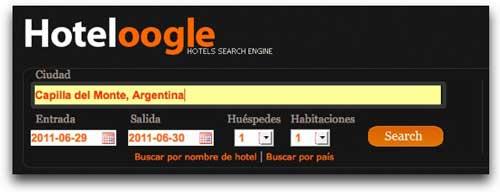 Sencillo pero potente buscador de hoteles en linea : Hoteloogle 1