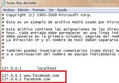 bloquear Facebook