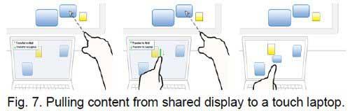 No es ciencia ficción sino Kinect, Compartir contenido con gestos 1