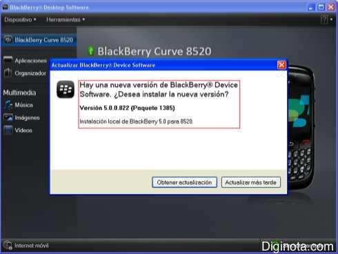Como Hacer para actualizar el software o Sistema Operativo de un Blackberry con DM 6.0  (Mini-guia + Imágenes) 1
