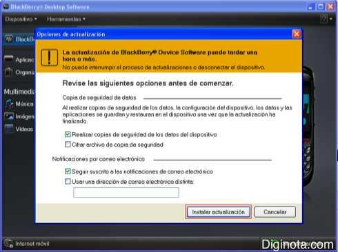 Como Hacer para actualizar el software o Sistema Operativo de un Blackberry con DM 6.0  (Mini-guia + Imágenes) 2