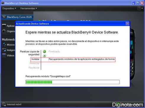 Como Hacer para actualizar el software o Sistema Operativo de un Blackberry con DM 6.0  (Mini-guia + Imágenes) 4