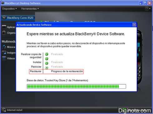Como Hacer para actualizar el software o Sistema Operativo de un Blackberry con DM 6.0  (Mini-guia + Imágenes) 8