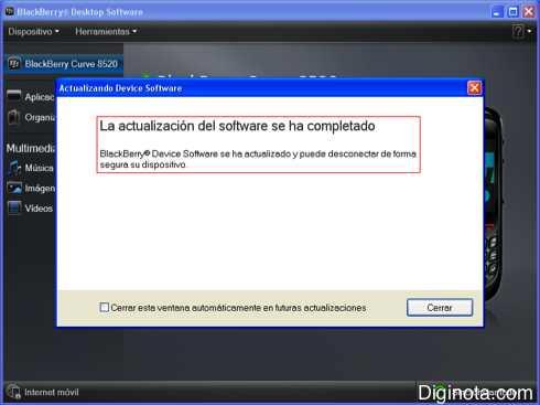 Como Hacer para actualizar el software o Sistema Operativo de un Blackberry con DM 6.0  (Mini-guia + Imágenes) 9