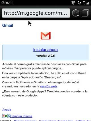 La aplicación de Gmail para BlackBerry ya no se podrá descargar 0