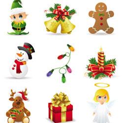 Descarga Iconos De Navidad En Vectores para tus diseños 1