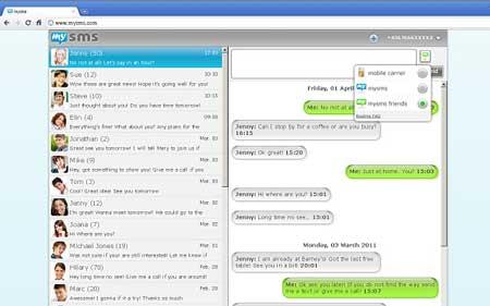 Con mysms puede enviar y recibir mensajes SMS desde tu Notebook , PC, MAC y Tablet  mediante Android 2