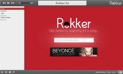 Otro sitio para escuchar musica online gratis sin descargar en Rokker.fm 1