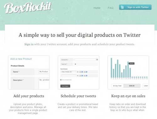 Promociona tus ventas y productos vía Twitter con BoxRockit 1