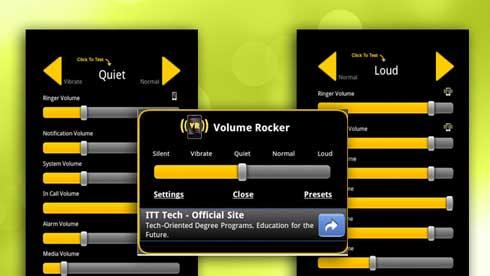 Control de volumen para Android cuenta con perfiles personalizables de sonido para cualquier ocasión al estilo BB 1