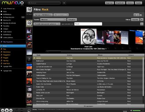 Un reproductor de música online que además de gratis, esta en español y es una buena alternativa a Spotify y Grooveshark  4