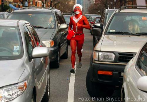 Una particular y sexy carrera navideña se celebró en Boston + fotos 3