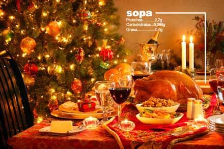 Banquete navideño, (BIEN). Navidades infernales, (MAL). Cómete primero la sopa. 1
