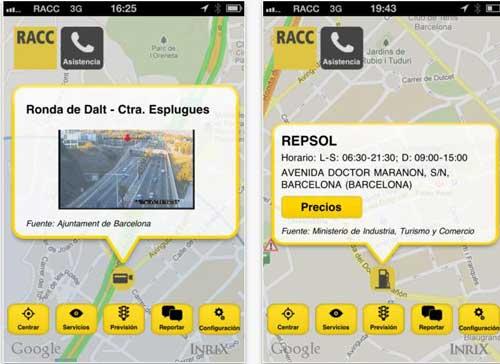 Aplicación para consultar el tráfico en España desde el iPhone o Android  estrena  la RACC  1