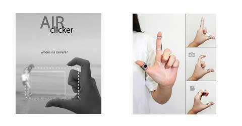 Innovador diseño de cámara miniatura la Air Clicker 4