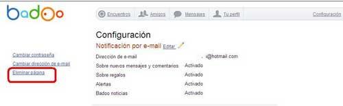 Eliminar cuenta de Badoo y/o eliminar perfil Badoo creado por Facebook 2