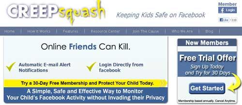 Protege a tus niños del acoso virtual en Facebook con: CreepSquash 1