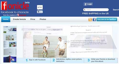 Crea un libro gratuito con los datos de tu cuenta de Facebook: Fonicle 0
