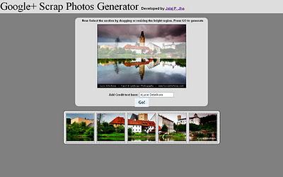 Como crear un banner personalizado en nuestro perfil de Google+ (plus) con: G+ Scrap Photo Generator 0