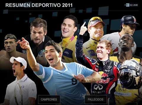 Una infografía animada de la agencia EFE que contiene fotografías de los deportistas más destacados y campeones del 2011 0