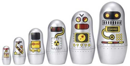 De las clásicas muñecas Matrobotshka, ahora con una serie que se adapta a nuestros tiempos la Matryoshka Madness Robot 1