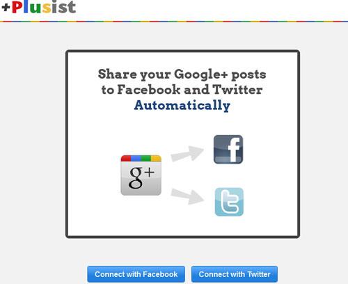 Pública automáticamente tus contenidos de Google+ en Facebook y Twitter con Plusist 1