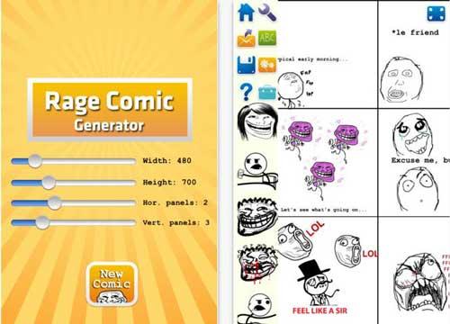 Crea tiras cómicas desde el iPhone o iPad con: Rage Comic Generator 1