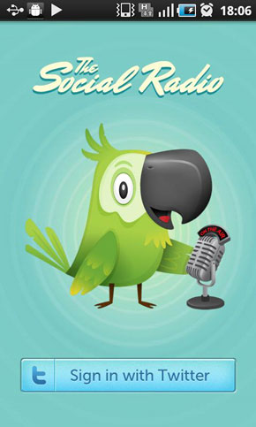 Aplicación Android que nos permite escuchar los Tweets: The Social Radio 0