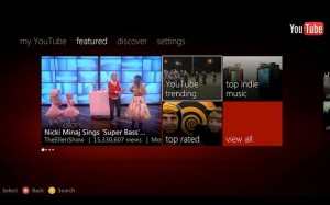 Youtube llego al Xbox 360 1