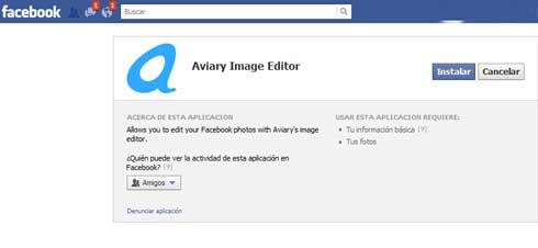 Aviary lanza su aplicación para editar fotos en Facebook 1