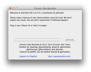 Cómo hacer jailbreak iPhone, iPad 2, 4s, 5.0.1 untethered (sin ataduras) con Absinthe 1
