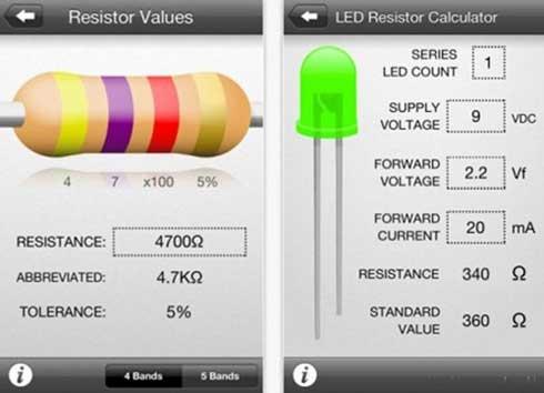 Como tener toda la información de componentes de electrónica en tu iPhone con Circuit Playground 1