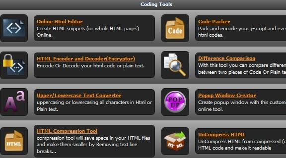 Una suite de herramientas gratuitas online para webmasters con: Online web tool 5