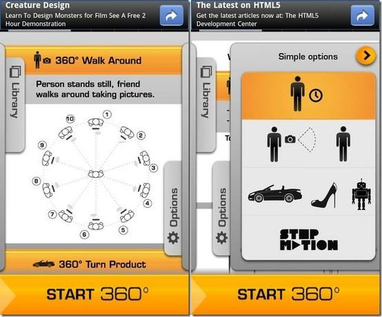Crear animaciones en 3D y fotos a 360 grados desde tu iPhone o Android con:YouSpin 0