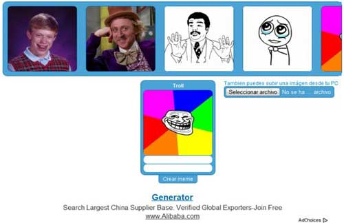 Crear MEMES online y gratis para tus perfiles en Redes Sociales, Blackberry Pin WhatsApp, etc 2