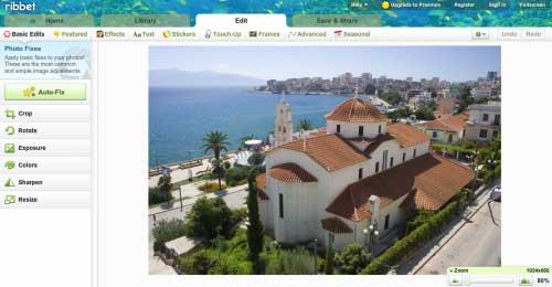Completo gratis  y potente editor de imágenes en línea : Ribbet 0