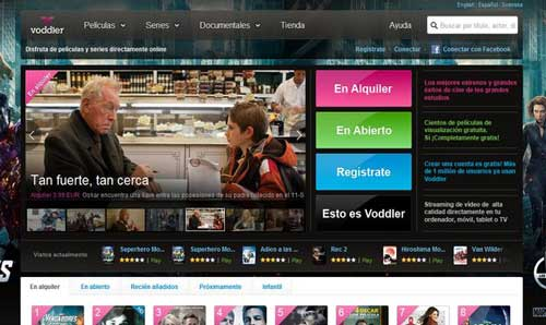 Ver online, gratis películas, series y documentales legal con Voddler España 1