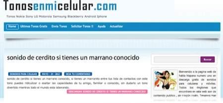 Muy buena pagina para descargar tonos gratis ringtones real tones para movil y celulares en español 0