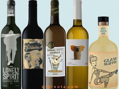 Botellas de vino con diseños creativo 0